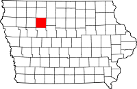 Pocahontas County location in iowa
