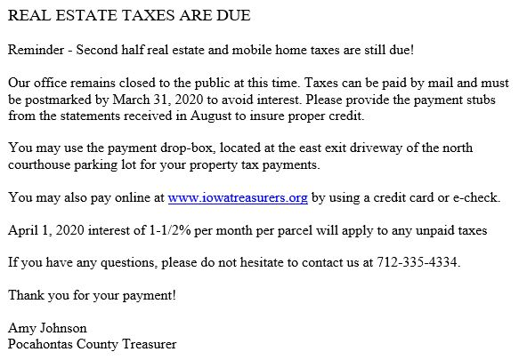 Treasurer-RealEstateTaxes